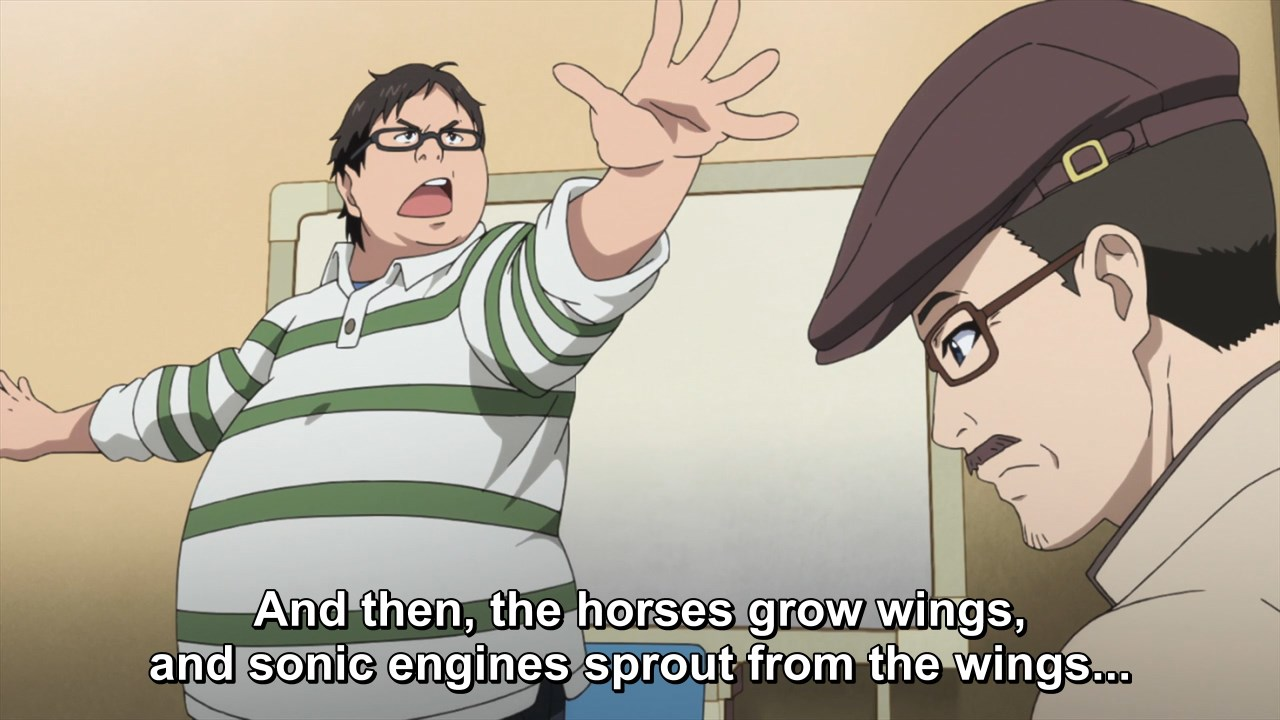 And then, the horses grow wings, and sonic engines sprout from the wings...