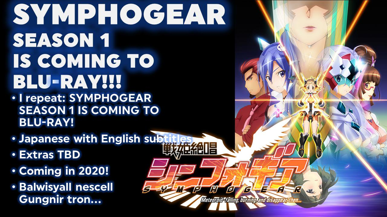 Discotek Symphogear Blu Ray Announcement